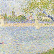 The Seine Seen From La Grande Jatte Art Print