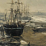 The Thames In Ice Art Print