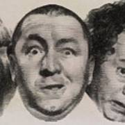 The Three Stooges Hollywood Legends Art Print