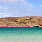 The Turquoise Water Of Dogs Bay Ireland Art Print
