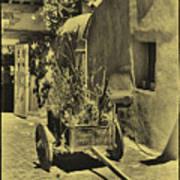 The Wooden Cart Art Print
