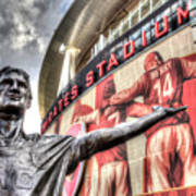 Tony Adams Statue Emirates Stadium Art Print