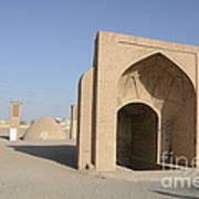 Towers Of Silence. Yazd, Iran Art Print