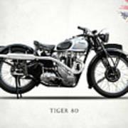 Triumph Tiger 80 1937 Art Print
