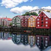 Trondheim Coastal View Art Print