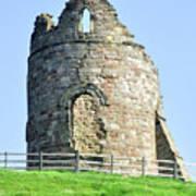 Tutbury Castle Ruins Art Print