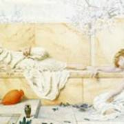 Two Classical Figures Reclining Henry Ryland Art Print