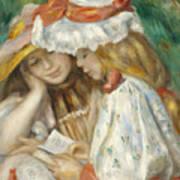 Two Girls Reading Art Print