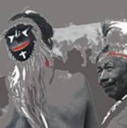 Two Yaqui Pascola Dancers Gallery In The Sun Tucson Arizona 1969-2013 Art Print