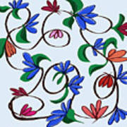 untitled  Floral Art Print
