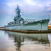 Uss Alabama Art Print