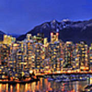 Vancouver Skyline Panorama Art Print by Wesley Allen Shaw