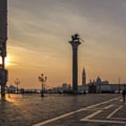 Venice At Sunset Art Print