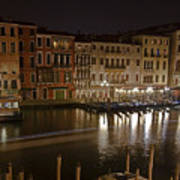 Venice By Night Art Print by Joana Kruse