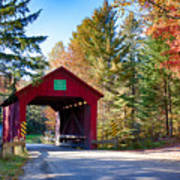 Vermonts Moseley Covered Bridge Art Print