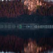 View Across Lake Bled Art Print