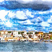 View Of Brindisi From The Ship Art Print