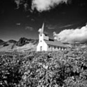 vik church Vik i Myrdal Iceland Art Print