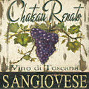 Vineyard Red Wine Sign Art Print