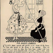 Clean Dainty Curtains Vintage Soap Ad Art Print