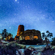 Watchtower Over The Grand Canyon   Arizona Art Print