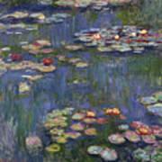 Water Lilies, 1916 Art Print