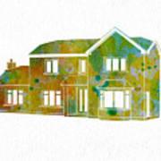 Watercolor House Art Print