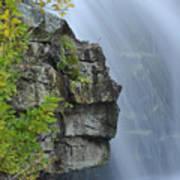 Waterfall Detail Art Print
