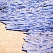 Waves Breaking On Tropical Shore Art Print