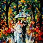 Wedding Under The Rain Art Print