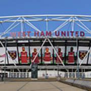 West Ham Fc Stadium London Art Print