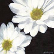 White Daisies Art Print