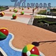 Wildwood's Sign, Boardwalk Wildwood, Nj. Copyright Aladdin Color Inc. Art Print