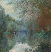 Willows At The Edge Of The Yerres Art Print