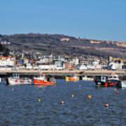 Winter Harbour - Lyme Regis Art Print