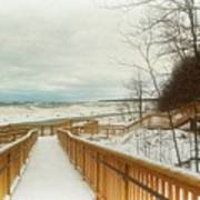 Winter Ice On Lake Michigan Art Print