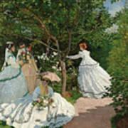 Women In The Garden Art Print