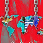 World Map Collection Art Print