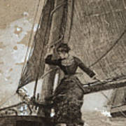Yachting Girl Art Print