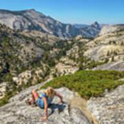 Yosemite National Park Hiking Art Print