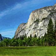 Yosemite Valley Meadow Panorama Art Print