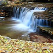 Zion Autumn Foliage Waterfall Art Print