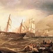 Miller Charles Henry Shipping Off Gibraltar Charles Henry Miller Art Print