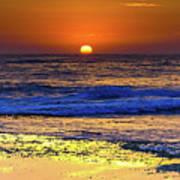 Sunrise Seascape And Rock Platform Art Print