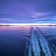 Sunset Over Alaska Fjords On A Cruise Trip Near Ketchikan Art Print