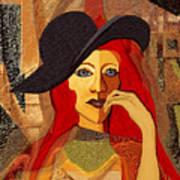 200 - Woman With Black Hat .... Art Print