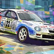 2002 Slovnaft Valasska Rally Toyota Celica Gt Four Liska Jugas  Art Print