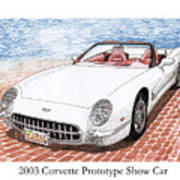2003 Corvette Prototype Art Print