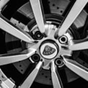 2005 Lotus Elise Wheel Emblem -0079bw Art Print