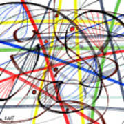 2007 Abstract Drawing 7 Art Print